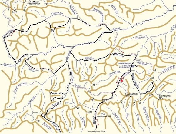 Отчет о прохождении лыжного спортивного маршрута 5 категории сложности по Восточному Саяну